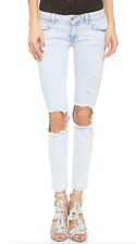 SIWY DENIM Hannah Destroyed Ripped Slim Skinny Jeans Dare Devil Blue 28 $217
