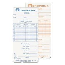 Acroprint Weekly Time Cards for ATR240 & ATR260 - 097000000