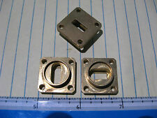 """WR42 Cover Waveguide Flange 3/16"""" Thick Brass Oval Flex Solder Microwave NEW"""