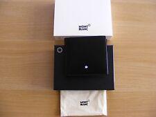 Men's Mont Blanc Black Leather Bifold 4cc Wallet