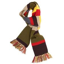 Dr Doctor Who Fourth 4th Tom Baker Striped Knitted Long Warm Scarf Scarves
