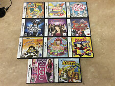 Nintendo DS Kids Complete Wholesale Game Lot Of 11! See Pics! Tested! Works!