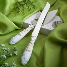Beach Theme Wedding Knife  Cake Server Set, 1, New, Free Shipping