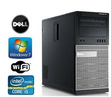 Dell Optiplex 790 Tower Windows 7 Pro I5 Quad Core 3.4GHz 4GB DVD/RW WiFI ready