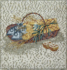Pack Of Fish And Bread Lemon Blessed Food Marble Mosaic AN499
