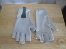 GREY BUFF WATER SUN GLOVES FLY FISHING GLOVES L/XL