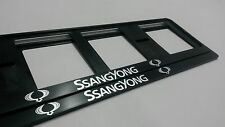 2X SSANG YONG EUROPEAN LICENSE NUMBER PLATE SURROUND FRAME HOLDER.