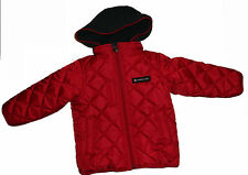 NEW TIMBERLAND JEANS PADDED JACKET RED 2 YEARS Detachable Hood AUTHENTIC