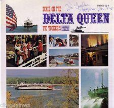 VIC TOOKER & HIS RIVERBOAT RAMBLERS Dixie on the Delta Queen SIGNED Oop Vinyl LP