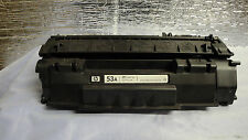 Used HP Genuine OEM Q7553A Black Toner P2015 very nice 77