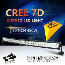 CREE 50/52INCH 480W CURVED LED WORK LIGHT BAR SPOT FLOOD COMBO OFFROAD TRUCK 7D