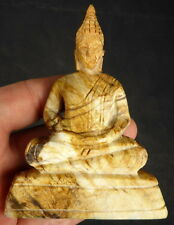 LARGE NATURAL PETRIFIED WOOD BUDDHA CARVING from  MYANMAR (BURMA) 807 CTS.