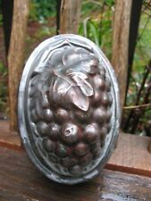 Stunning antique Kitchen tin mold AAFA c.1880s-1900~Grapes design folk art~OOAK~