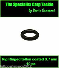 A0240 10 PZ 3,7 MM RIG RINGS TEFLON COATED CARPFISHING HAIR RIG BOILIES CARPA