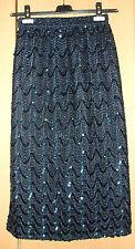Traumhaft schöner Rock Dunkel Blau mit Pailetten Gr. S Nur Zweimal getragen