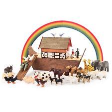 ARCHE NOAH mit Zubehör NEU Erzgebirge Reifentiere Märchen Tiere Volkskunst Holz