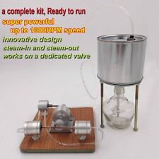 1000RPM Powerful Steam Engine Model Complete Stirling Engine Kit w/ Boiler