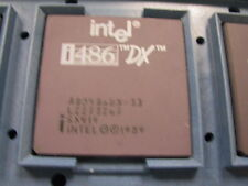 Intel A80486DX-33Mhz Gold Ceramic Processor Chip SX419 i486 A80486 80486 486 1pc
