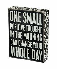 """ONE SMALL POSITIVE THOUGHT..."" Wood Box Sign Primitives by Kathy INSPIRATIONAL"