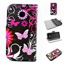Flip Leather Wallet Cell Phone Protective Holster Case Cover For Motorola Moto E