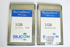 SiliconDrive Industrial PC Card 1GB ATA PCMCIA FLASH MEMORY CARD 1 GB SSD-P01G