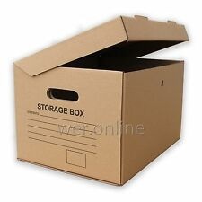 """5 x A4 Archive Filing Removal Cardboard Boxes 15x12x9"""""""