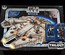 Star Wars OTC Electronic Light & Sound Millennium Falcon Han Solo Chewbacca Lot