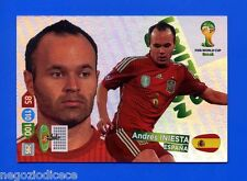 # ADRENALYN XL BRASIL 2014 LIMITED EDITION - Figurina-Sticker - ANDRES INIESTA