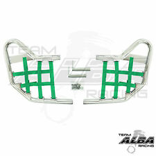 TRX 450R TRX450R Honda   Nerf Bars  Alba Racing  Silver bar Green nets 218 T1 SG