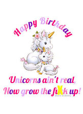 Unicorns Ain't Real ~ Doris & Betty Birthday Card - PM-BB10