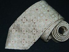 Men's Brioni Floral Brown Silk Neck tie Made in Italy