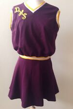 Vintage Cheerleader Costume Uniform Outfit Halloween Costume Crimson Gold Sz S