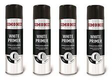 4X 500ML Simoniz White Primer Spray Paint Professional Bodyshop Alloy