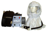Supplied fresh Air Respirator breathing vinyl painter's Hood system SAR
