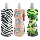 3pcs BPA Free 16oz Collapsible Water Bottle, Foldable Water Bottle