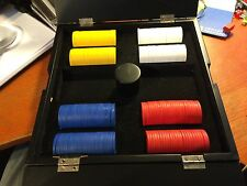 Poker Chips in Decorative Wood Box