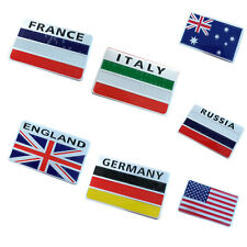 3D Aluminum National Flag Car Sticker Decals Fashion Decoration for Auto
