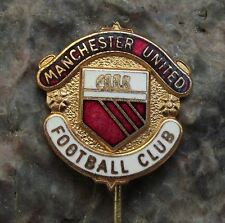 Antique Manchester United Ship & Shield Logo Crest MUFC Supporter Pin Badge