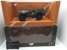 "Ut 1:18 Militar Jeep willy's Jeep"""" 180 149001 muy raro no Autoart"