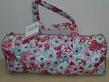 BNWT- Hobby Gift-Knitting/Crochet/Project-Hold All Style Bag-Floral Design