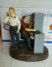 2000 Figure Pinkerton Security services Police detective Resin Statue RARE