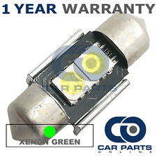 1X GREEN CANBUS NUMBER PLATE INTERIOR 2 SUPER BRIGHT SMD LED BULBS 30MM 06GX1