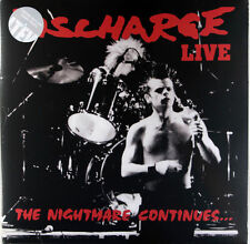 DISCHARGE - The Nightmare Continues *SALE PRICE NEW 2016 LTD CLEAR Vinyl LP