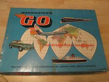 Vintage GO The International Travel game. By Waddington's Games 1961 Complete