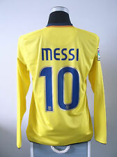 Lionel messi # 10 Barcelone l / s away football shirt jersey 2008-2010 (M)