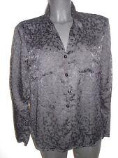 Schwarze Transparente Bluse mit floralem Muster durchsichtig Gr 38