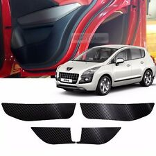 Carbon Door Decal Sticker Cover Kick Protector For PEUGEOT 2010-2012 2013 3008