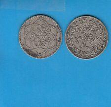 Gertbrolen Maroc 5 Dirhams (1/2Ryal)  1329 Paris  Silver Coin of Morocco