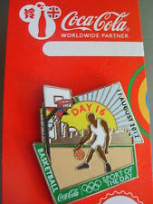 COCA COLA PIN BADGE - LONDON 2012 - DAY 16 BASKETBALL - MOC