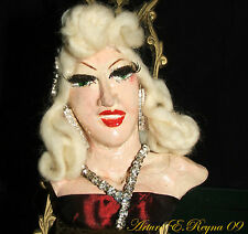 ARTURO E.REYNA MAE WEST WEARABLE ONE OF A KIND SCULPTURE BROOCH PIN